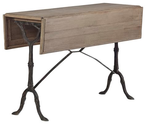 Drop Leaf Console Table Hansel Drop Leaf Table Traditional Console Tables Atlanta By Gabby