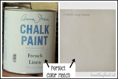 the paint color match to sloan s linen chalk paint beneath my