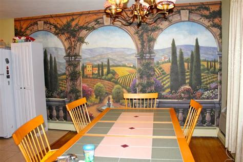 wall mural in dining room