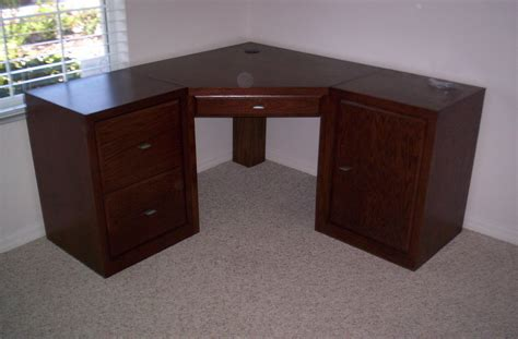 amazing solid wood corner computer desk with