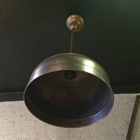 Industrial Dome Pendant Light Industrial Brushed Steel Brunswick Dome Pendant Light For Sale At 1stdibs