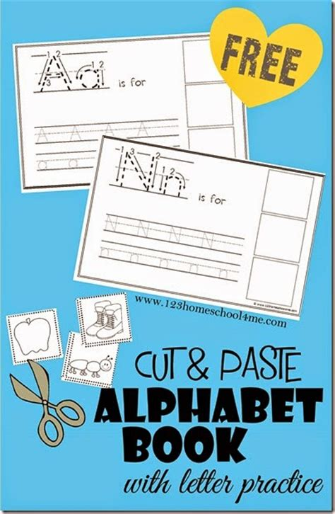 free cut and paste alphabet learning book free