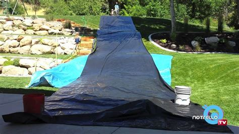 how to make a backyard slip n slide