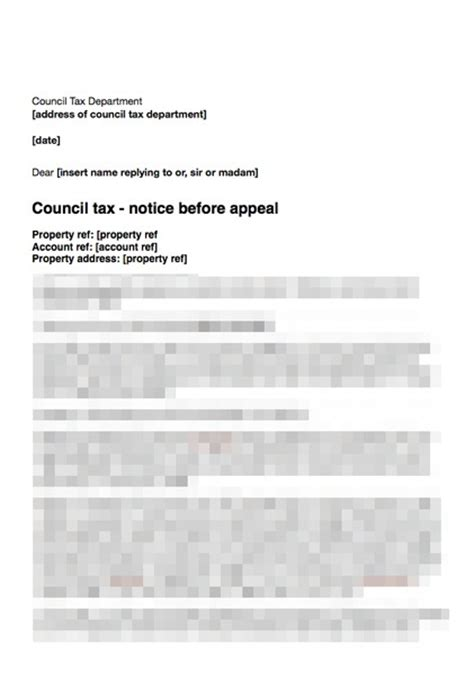 council tax appeal letter template council tax second letter before appeal more detail