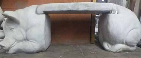 concrete pig bench dutchman fountains cast stone bench garden