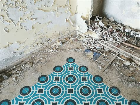 spray painting tiles new spray painted tile floor installations by javier de