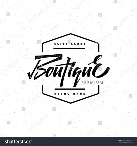fashion boutique premium badge logo sticker elite