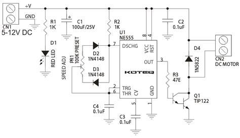 speed of a dc motor using pwm pwm dc motor speed controller using 555 timer circuit