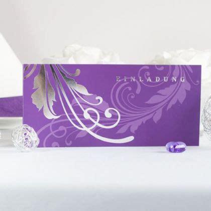 Lila Einladungskarten Hochzeit by Einladungskarten In Lila F 252 R Eure Hochzeitsfeier