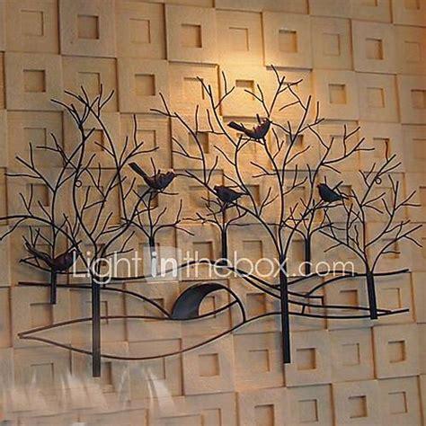 metal wall art wall decor birds  fragrant flowers wall