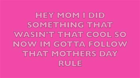 s day verses lyrics smosh mothers day rule song lyrics