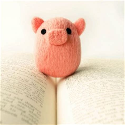 Handmade Pig - handmade needle felted animals owls pigs and more