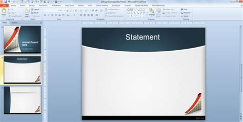 How To Make An Annual Report Using Powerpoint Templates Powerpoint Report Template