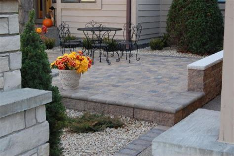 raised patio pavers raised paver patios and walks