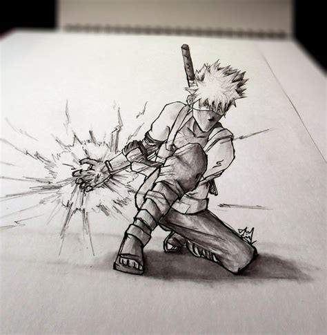 3d sketch drawing 3d sketch kakashi anbu by iza nagi on deviantart