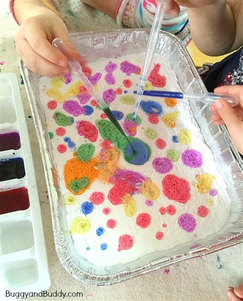themes for colour project exploring colors with baking soda and vinegar buggy and