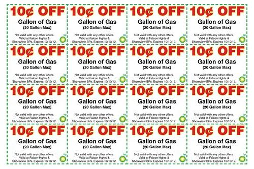 mn gas coupons 10 cents