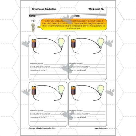 electricity conductors year 5 circuits and conductors conductors and insulators planbee