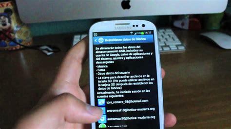 Samsung Galaxy S3 Mini Weiß 481 by Como Resetear Samsung Galaxy S3 4 Volver Al Modo Datos