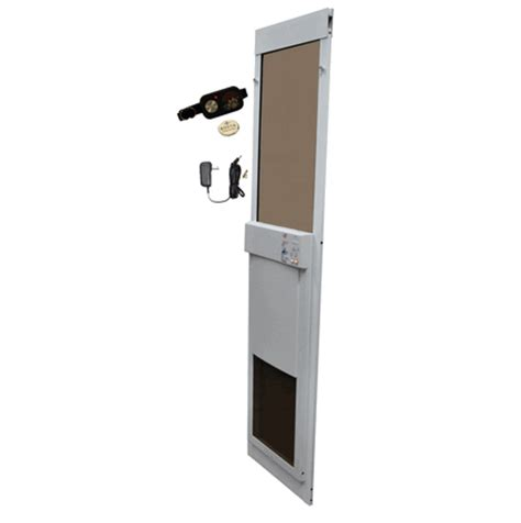 Automatic Pet Doors by Fully Automatic Pet Doors Adapted For Sliding Glass Doors