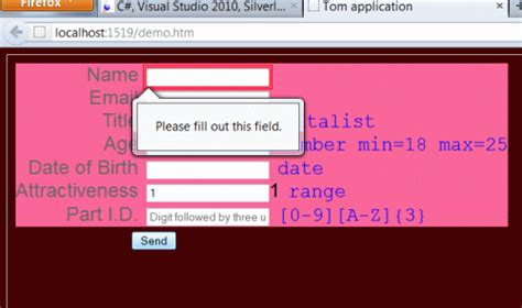 pattern for name validation in html5 validation in html5 using regular expressions