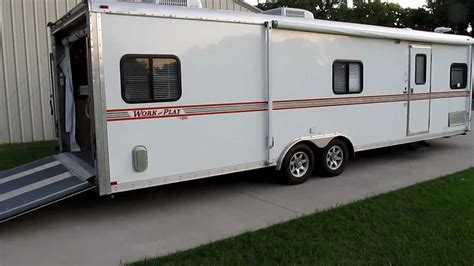 Fifth Wheel Floor Plans Forest River Work And Play Harley Toy Hauler Deluxe 50 Amp