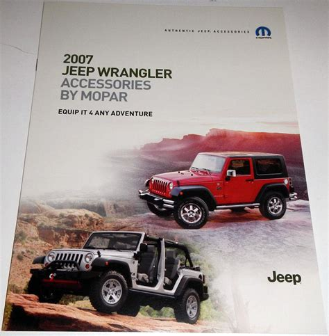 2007 Jeep Wrangler Accessories Sell 2007 Jeep Commander Brochure Overland Limited