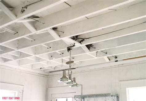 Ceiling White Spray Paint by Basements Exposed Beams And Playrooms On