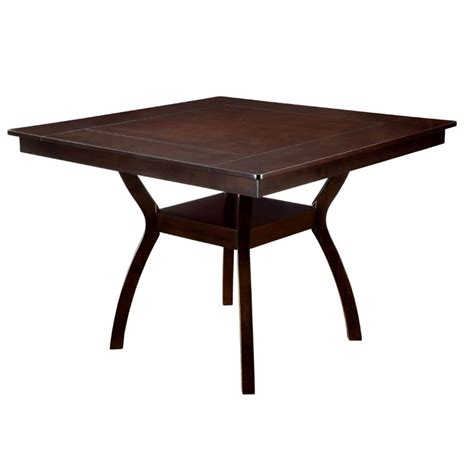 Square Dining Table Bar Height Furniture Of America Melott Square Counter Height Dining