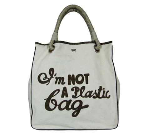 Guess Who Uses The Anya Hindmarch Im Not A Plastic Bag by Eco Trend I M Not A Plastic Bag Inhabitat