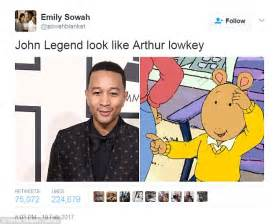 John Legend Meme - chrissy teigen trolls john legend in arthur tweet