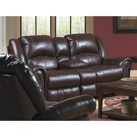 catnapper power recliner loveseat catnapper livingston leather power reclining loveseat in