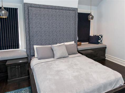 bedroom roman emperor headboard to complement your bed modern gray home remodel vanessa deleon hgtv