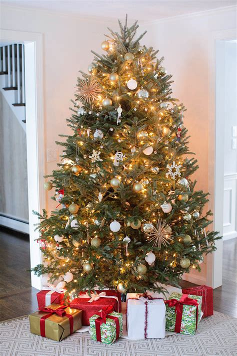 How To Hang Christmas Tree String Lights Popsugar Home How To String Lights On A Tree