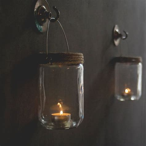 Jar Candle Holders Hanging Jar Candle Holders Set Of Two