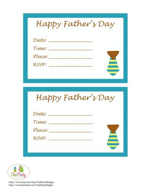 Fun And Facts With Kids Father S Day Craft Ideas And Free Printables S Day Invitation Template