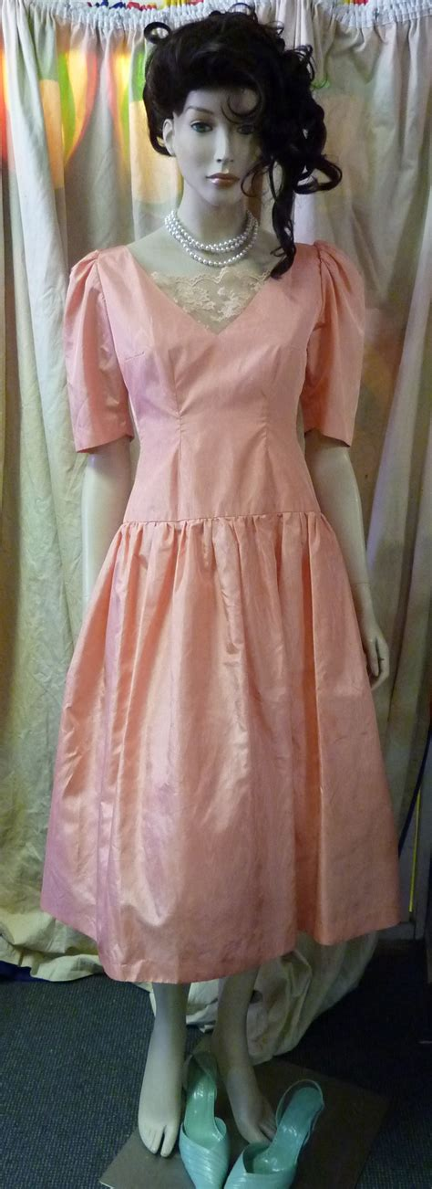 80s prom dress costume 80s brides maid or prom dress apricot bam bam costume hire