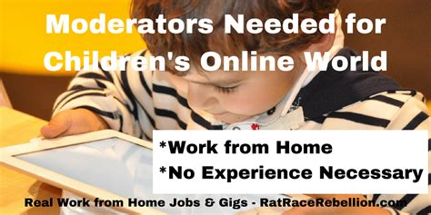 Online Moderator Jobs Work From Home - help keep children safe online no experience necessary real work from home jobs by