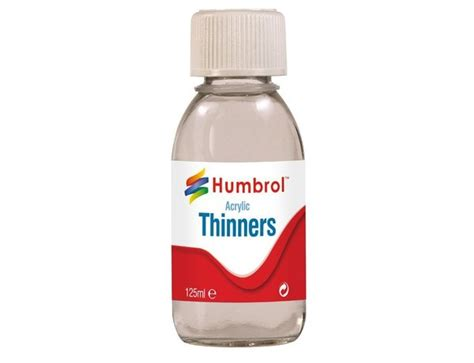 Thinner Acrylic humbrol acrylic thinners bottle 125ml ac7433 163 5 39
