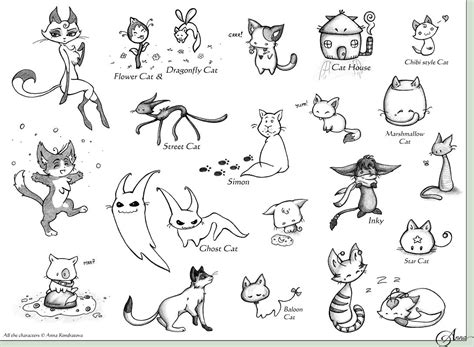 doodle cat drawings cat designs doodles by stardust on deviantart