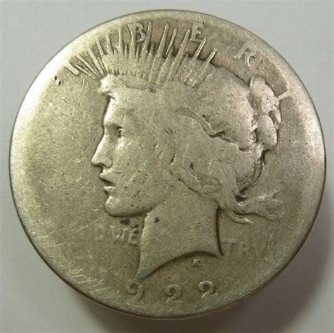 1 dollar silver coin 1922 1922 s lowball silver liberty peace dollar 1 us coin item