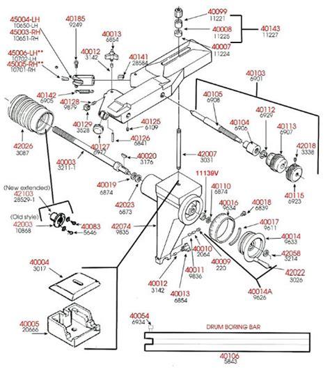 ammco 4000 brake lathe parts diagram brake lathe parts breakdown cross feed assembly ammco