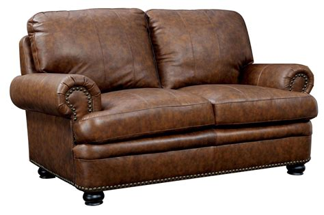 top grain leather loveseat rheinhardt top grain leather loveseat