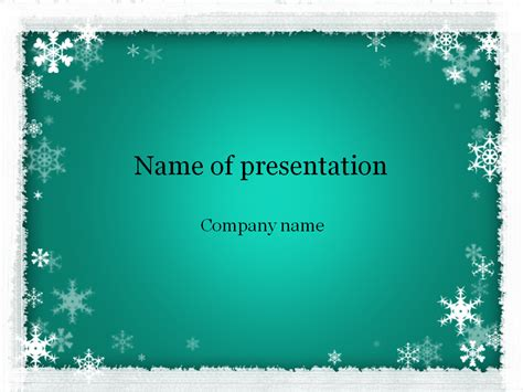 winter templates free winter powerpoint template for presentation