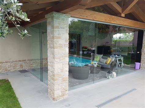 vetrate verande vetrate scorrevoli tutto vetro o in alluminio per esterni