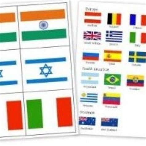 Printable Flash Cards Flags Of The World | printable countries flags flash cards printing press