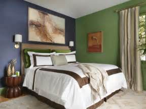 blue and green master bedroom solid color bedroom inspiration feature artistic painting