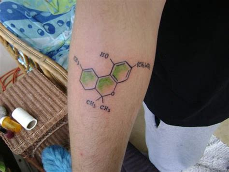 chemical structure tattoo that thc by the way justin at