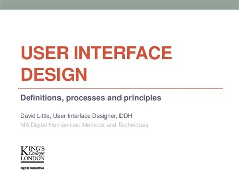 user pattern definition user interface design definitions processes and principles