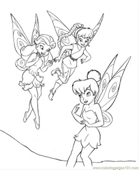 coloring pages tinkerbell and friends